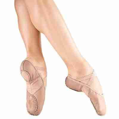 So Danca BAE11 Lederen Balletschoenen met Splitzool van Elastisch Nylon