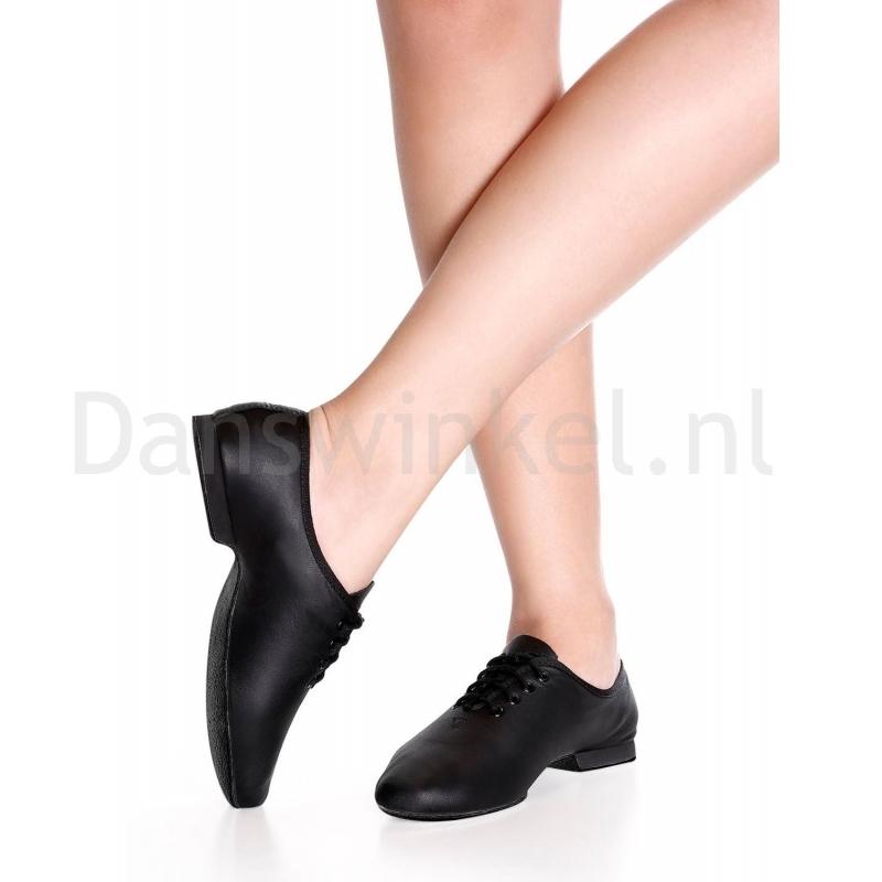 SoDanca JZE05 jazzschoenen zwart leer