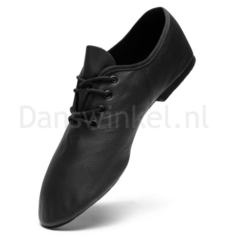 SoDanca JZE05 jazzschoenen zwart suede zool