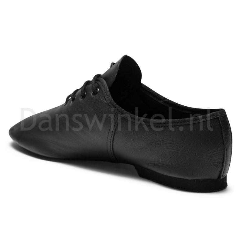 SoDanca JZE05 zwarte jazzschoenen vetermodel
