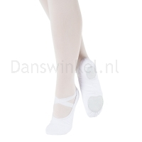 So Danca SD16VG Vegan Canvas Balletschoen met splitzool wit elastisch canvas