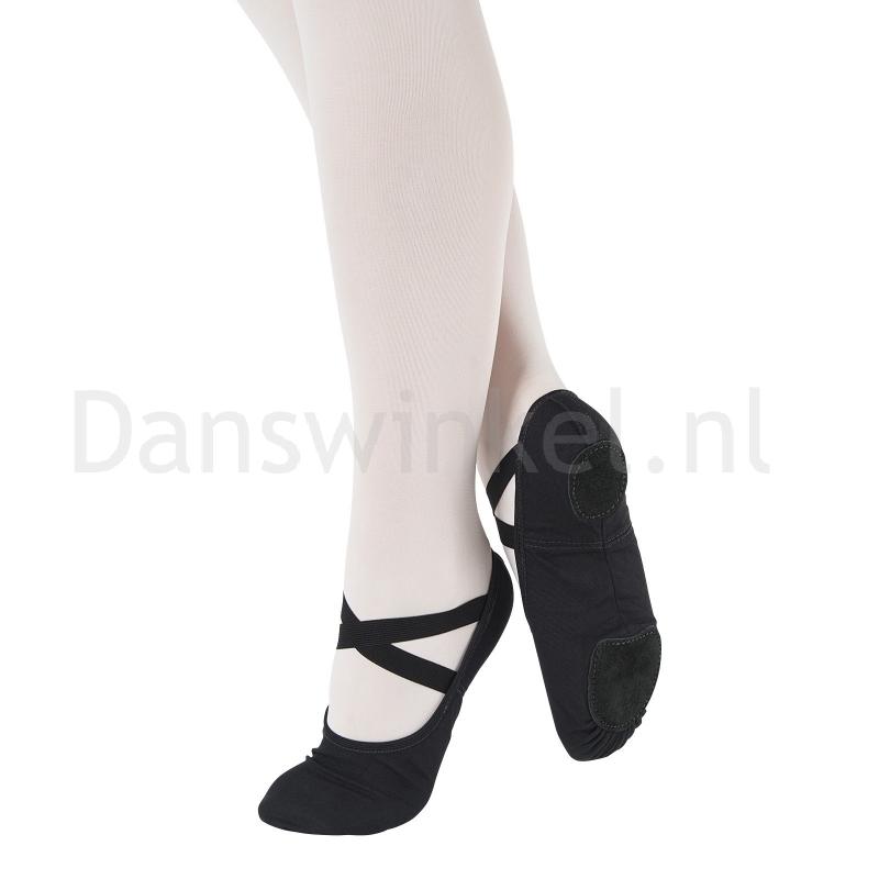 So Danca Zwarte Balletschoenen met splitzool SD16