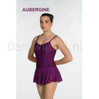Artiligne Dames balletpak met rokje Julia aubergine