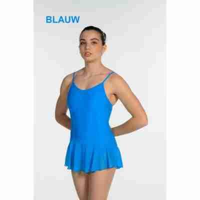 Artiligne Dames balletpak met rokje Julia blauw