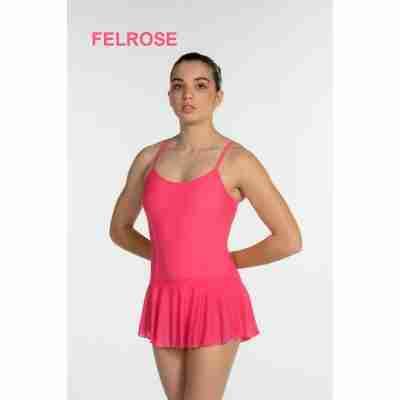 Artiligne Dames balletpak met rokje Julia felroze