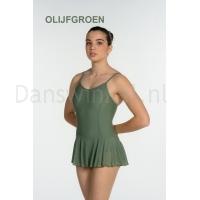 Artiligne Dames balletpak met rokje Julia olijfgroen