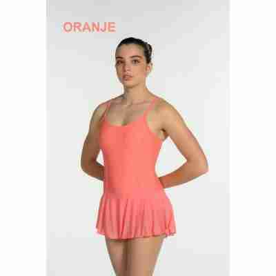 Artiligne Dames balletpak met rokje Julia oranje