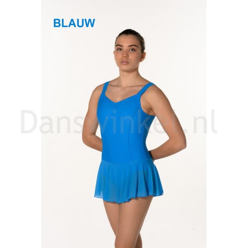 Artiligne Dames balletpak met rokje Justine blauw