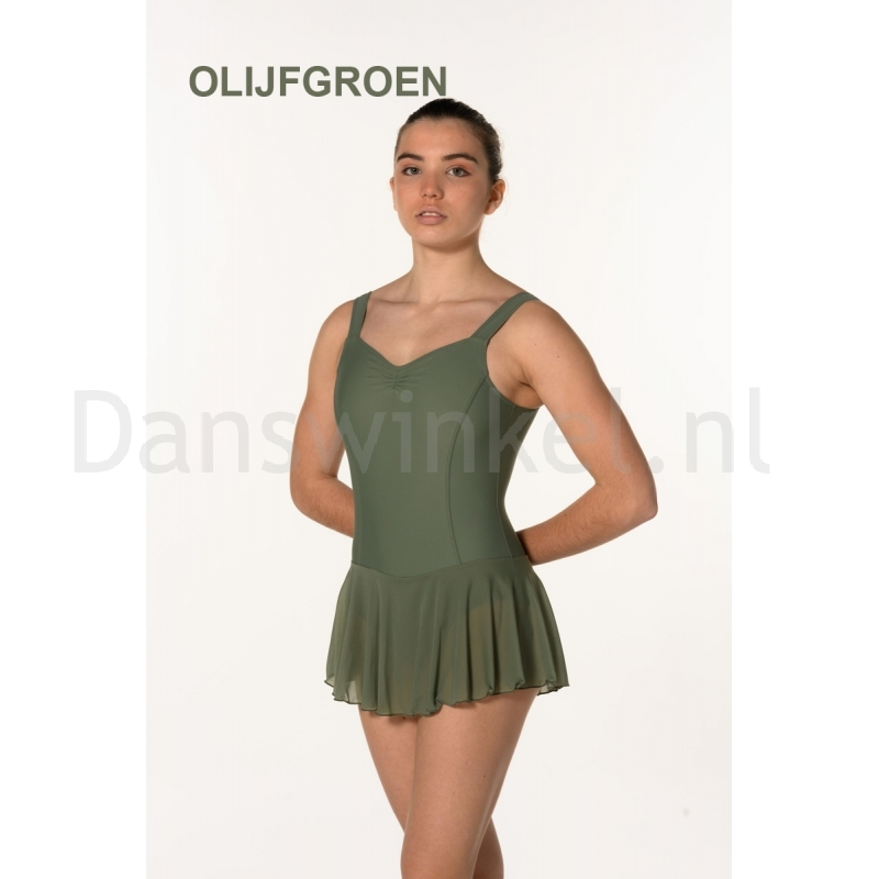 Artiligne Dames balletpak Justine olijfgroen