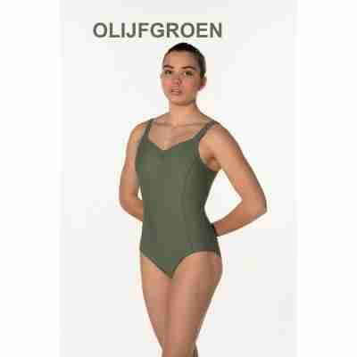 Artiligne Dames balletpak Soline Olijfgroen