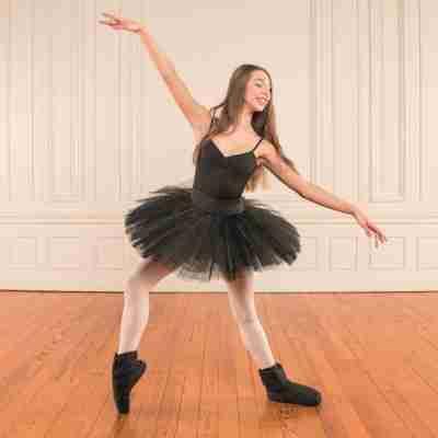 Dansez-Vous Warm-Up Bootie zwart voor ballet