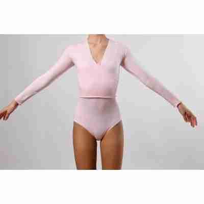 Dansez-Vous Warmy Roze Wikkelvestje voor Kinderen