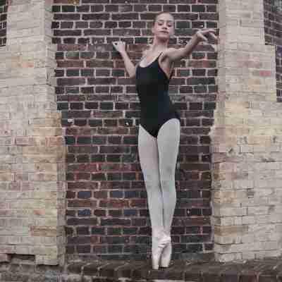 Dansez-Vous E100 footed balletpanty elastische taille volwassenen roze