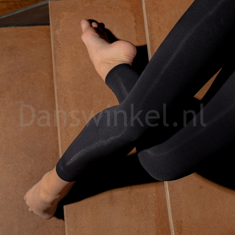 Dansez-Vous P102 Voetloze Balletpanty zwart lichte glans