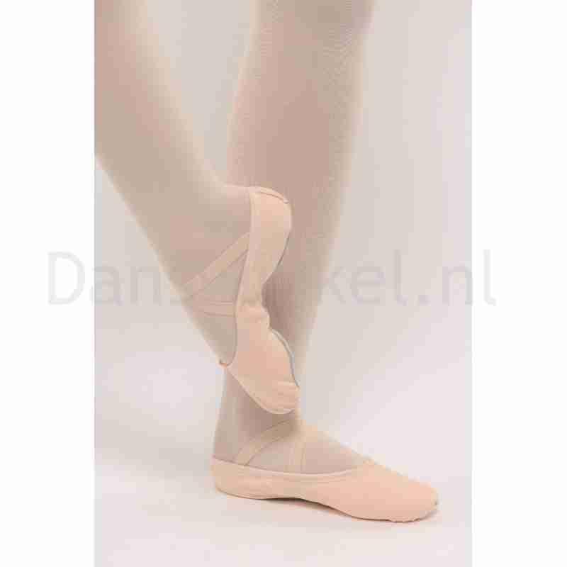 Dansez-Vous canvas balletschoenen Lili voor volwassenen met elastiek over de wreef