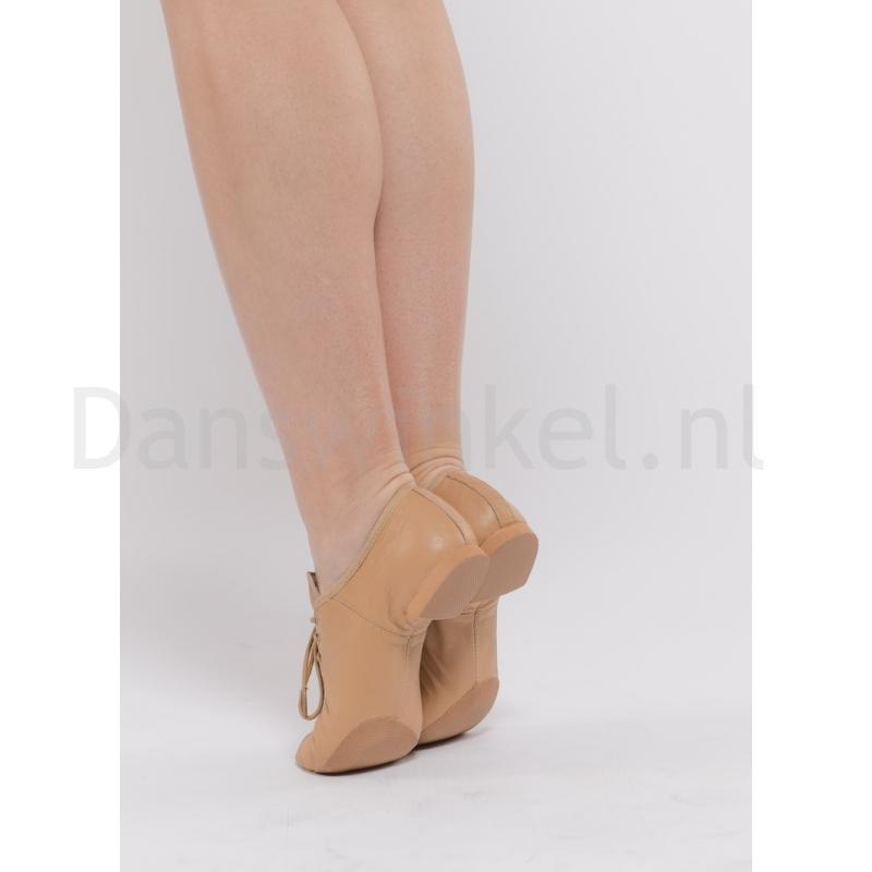 Dansez-Vous Jazz schoenen suntan Leo met splitzool