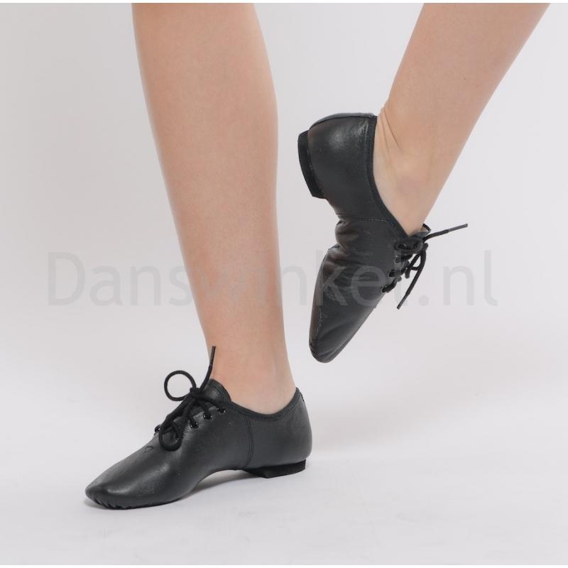 Dansez-Vous zwarte Jazzschoenen Leo met veters