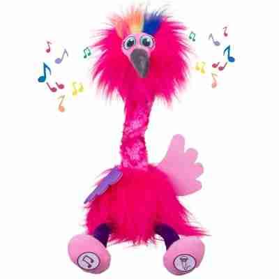 Gear2Play TR0096 dansende en zingende flamingo knuffel