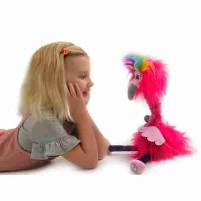 Gear2Play TR0096 flamingo knuffel muziek flossi