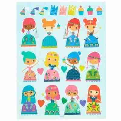 Ooly Herbruikbare stickers Princessen