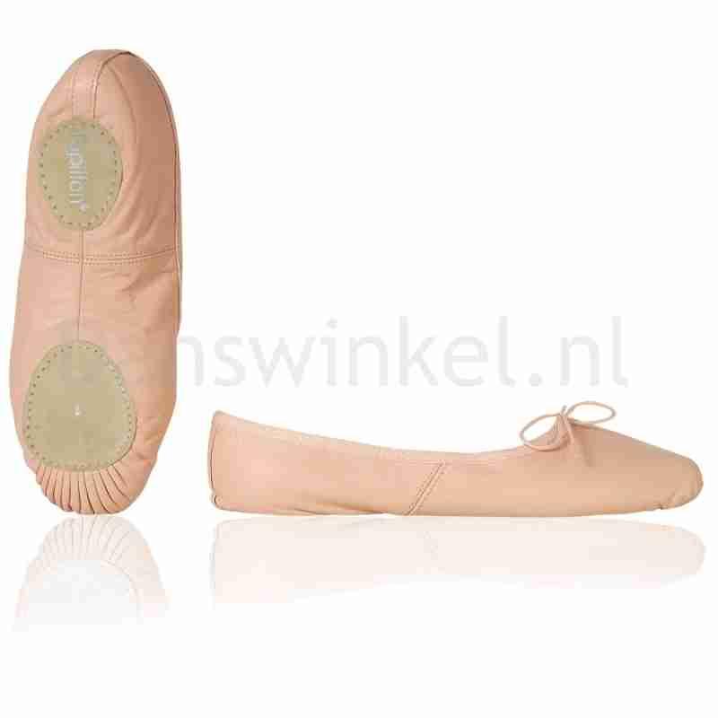 Papillon Lederen Balletschoenen met Splitzool PA1002 roze