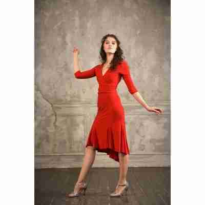 Studio Moscow SM6036 Rode Wikkeltop voor tango en salsa