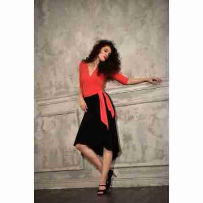 Studio Moscow SM6036 Rode Wikkeltop tangokleding