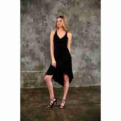 Studio Moscow SM8001-037 Zwarte Dansjurk voor Tango, Salsa en Latin