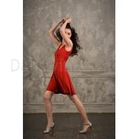 Studio Moscow SM8002R Rode Dansjurk voor Salsa, Latin en Tango