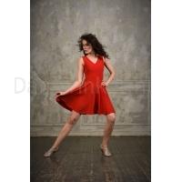 StudioMoscow Rode dansjurk met zwierende rok