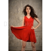 StudioMoscow Rode dansjurk van polyester en elastaan