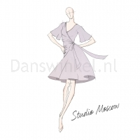 Studio Moscow SM8006 Rode Dansjurk voorbeeld