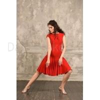 Studio Moscow SM8009R Rode Dansjurk met losvallende rok