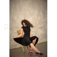 StudioMoscow black dance dress SM8009-037