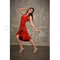 Studio Moscow SM8040R Rode jurk met zwierende rok