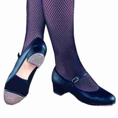Capezio Buckle Bar Top 451 Dames zwarte Lederen Tap dansschoenen met gespsluiting