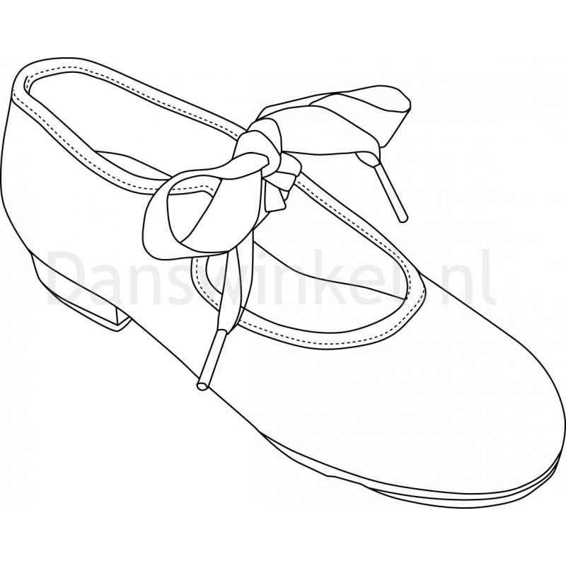Capezio Tyette Jr U625C roze pu kunstleer Tap schoen voor meisjes