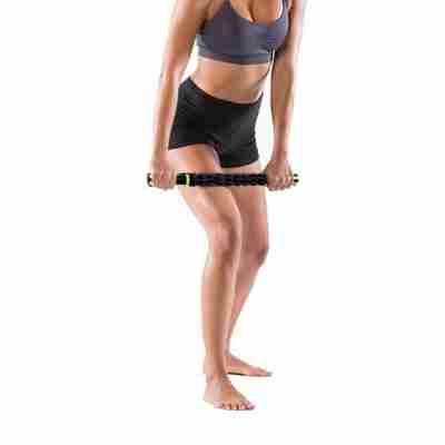 Techdance massage roller voor beenspieren en arm spieren TH 111 zwart met groen