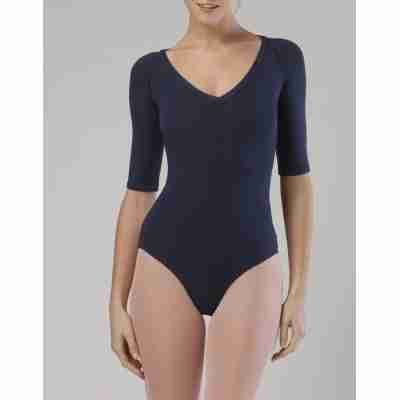 Temps Danse Maddy Navy balletpak voor dames met hoge rug