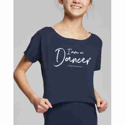 Temps Danse Meisjes Dans Top Agile JR I Am navy