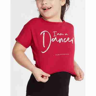 Temps Danse Meisjes Dans Top Agile JR I Am kirsche