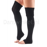 ToeSox Sasha Thigh High Leg Warmer zwart zijkant