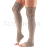 ToeSox Sasha Thigh High Leg Warmer beige zijkant