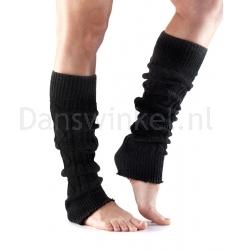 Beenwarmer - 55CM - Zwart - Oranje - Wol/Acryl/Polyester - ToeSox Leg Warmer