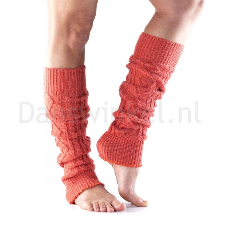 ToeSox Leg Warmer oranje zijkant