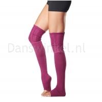ToeSox Sasha Thigh High Leg Warmer paars zijkant