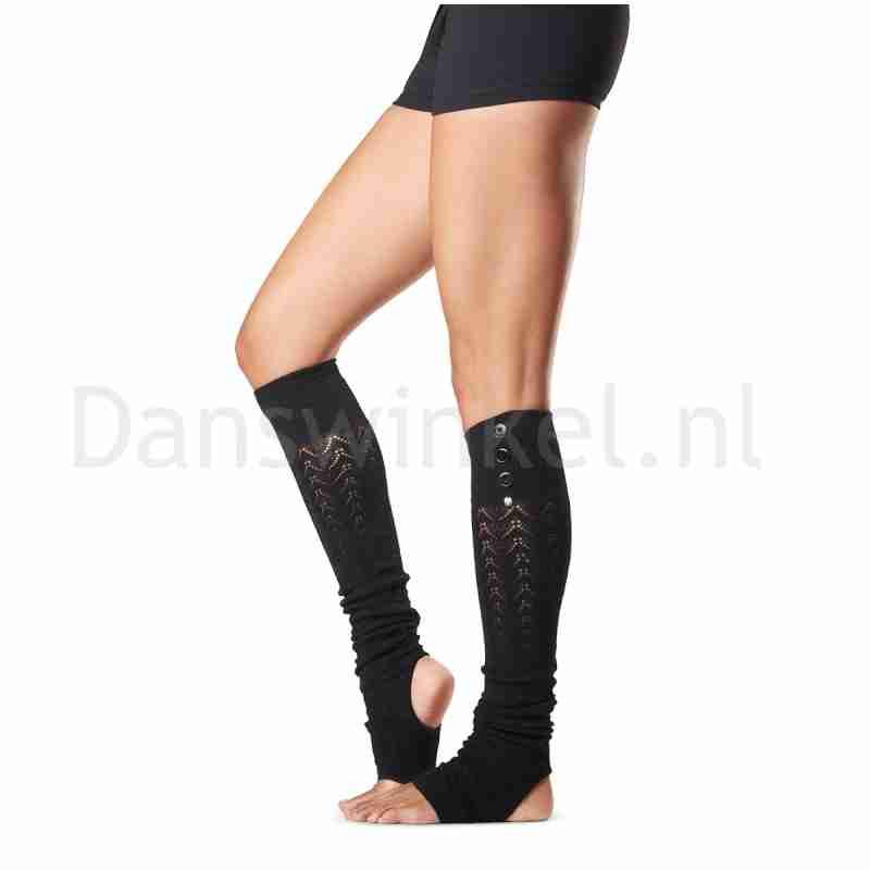Kniehoge beenwarmers - Onesize - Zwart - Mulberry - 55CM - Katoen/Elastaan - ToeSox Taya Leg Warmer