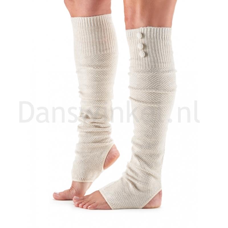 ToeSox Rae Open Heel Leg Warmer vanilla