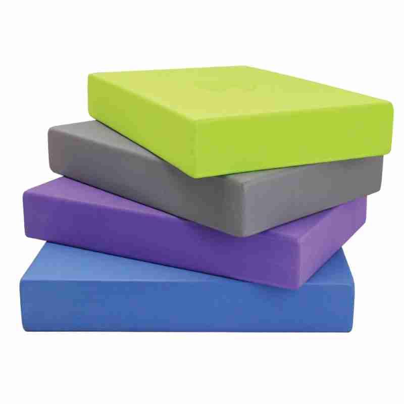 Yogablokken - EVA foam - 30x20x5cm - Geel - Blauw - Grijs - Paars - ToeSox Full Yoga Block