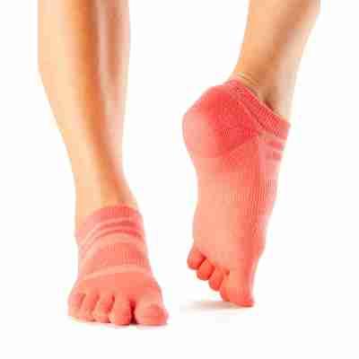 ToeSox Mediumweight Sport Socks No Show oranje voorkant